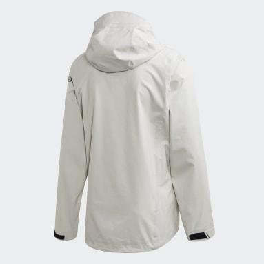 Veste Terrex DSV Parley Three-Layer Rain Blanc Hommes TERREX