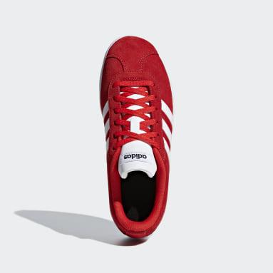 Tenis Vl Court 2.0 K (UNISEX) Rojo Niño Diseño Deportivo