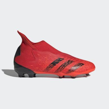 Guayos Predator Freak.3 Sin Cordones Terreno Firme Rojo Niño Fútbol