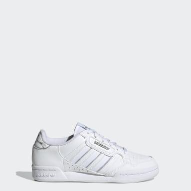Kids Originals White Continental 80 Stripes Shoes