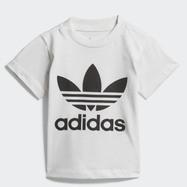Børn Originals Hvid Trefoil T-shirt