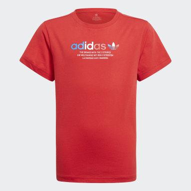 T-shirt adicolor Graphic Rosso Bambini Originals