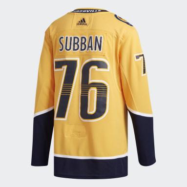 Men's Hockey Yellow Predators Subban Home Authentic Jersey