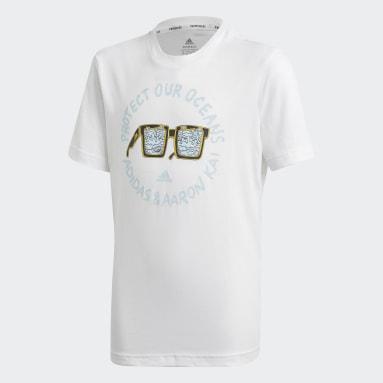 Boys Gym & Training White Aaron Kai x adidas Graphic T-Shirt
