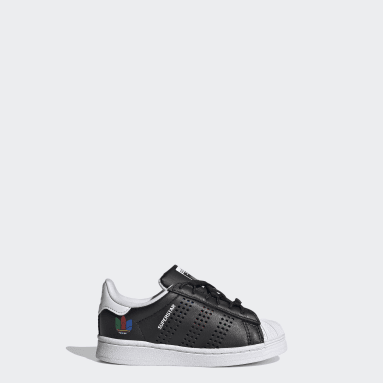Toddlers 1-4 Years Originals Black Superstar Shoes
