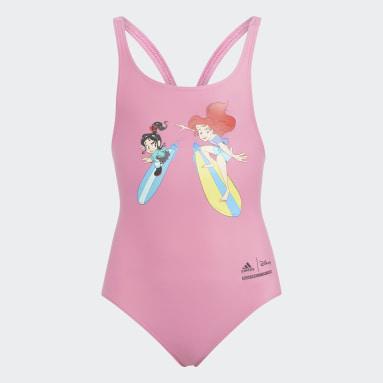 เด็กผู้หญิง ว่ายน้ำ สีชมพู ชุดว่ายน้ำ Disney Princess
