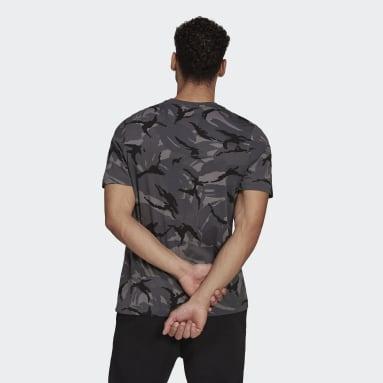 Essentials Camouflage Tee Szary