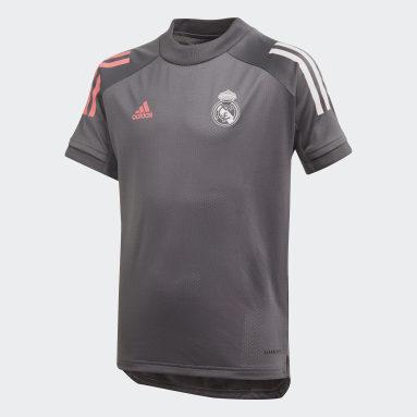 Maillot d'entraînement Real Madrid Gris Enfants Football