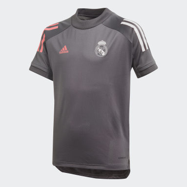 Kids Football Grey Real Madrid Training Jersey
