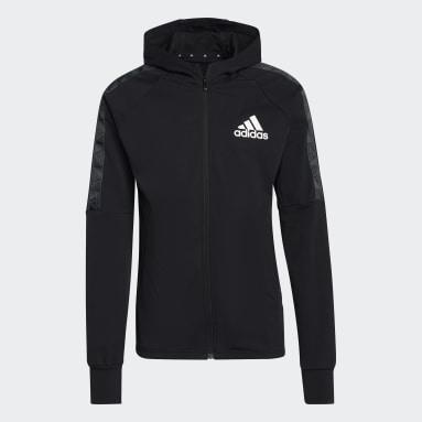 Muži Cvičení A Trénink černá Mikina AEROREADY Designed to Move Sport Motion Logo