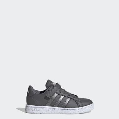 Children Essentials Grey Grand Court Shoes