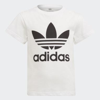 Kinderen Originals Wit Adicolor Trefoil T-shirt