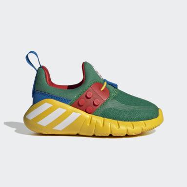 Infants เทรนนิง สีเขียว รองเท้า adidas RapidaZen x LEGO®
