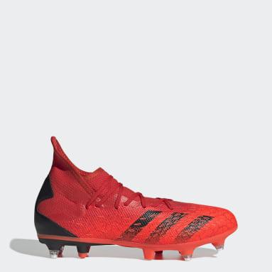 Men Football Red Predator Freak.3 Soft Ground Boots