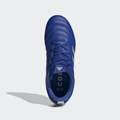 Calzado de fútbol Copa 20.3 Terreno Firme Azul Niño Fútbol