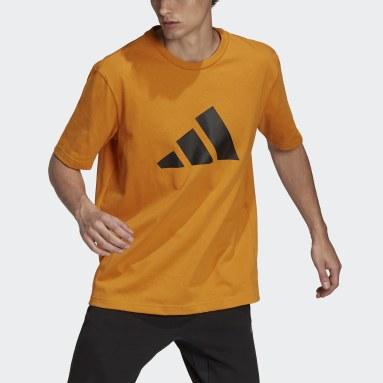 Men Sportswear Orange adidas Sportswear Future Icons Logo Graphic T-Shirt