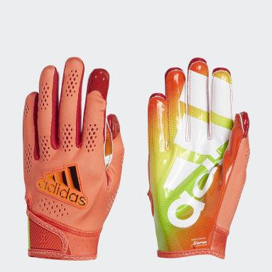 Men's Football Red Adizero 11 All-American Game Gloves