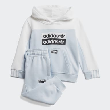 Conjunto sudadera con capucha y pantalón Azul Niño Originals