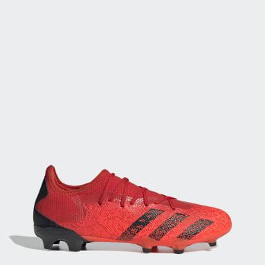 красный Футбольные бутсы Predator Freak.3 FG