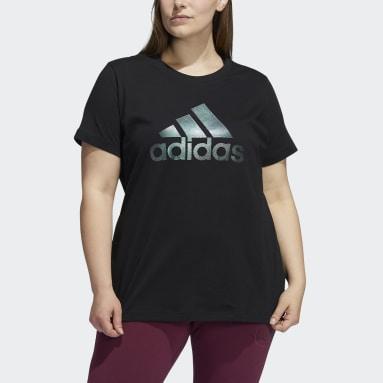 Women's Sportswear Black Holiday Graphic Short Sleeve Tee (Plus Size)