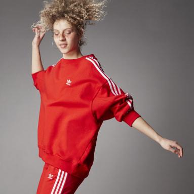Women's Originals Red Adicolor Classics Oversized Sweatshirt