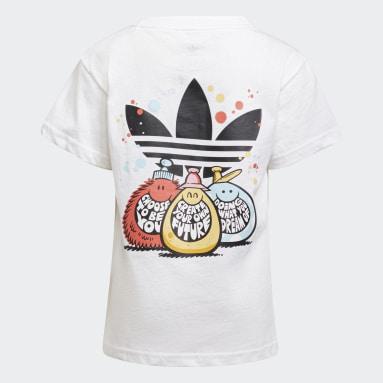 Deti Originals biela Tričko adidas Originals x Kevin Lyons