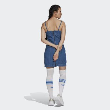 Frauen Originals adicolor Denim Kleid Blau