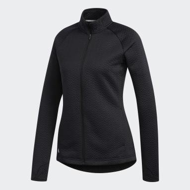 Kvinder Golf Sort Textured Layer jakke