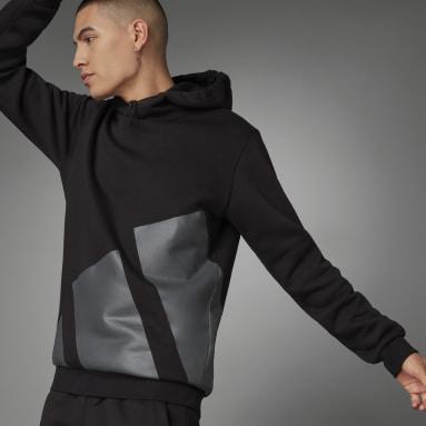 Men Sportswear Black Logo Hoodie