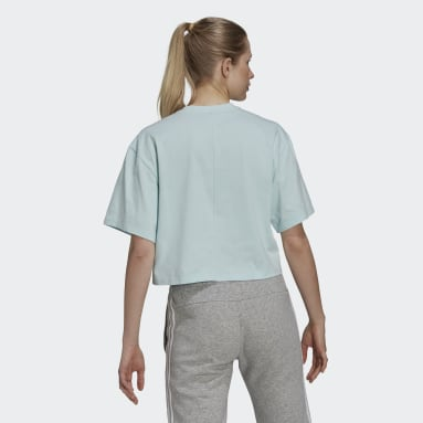 Women Sportswear Green You for You Cropped Logo T-Shirt