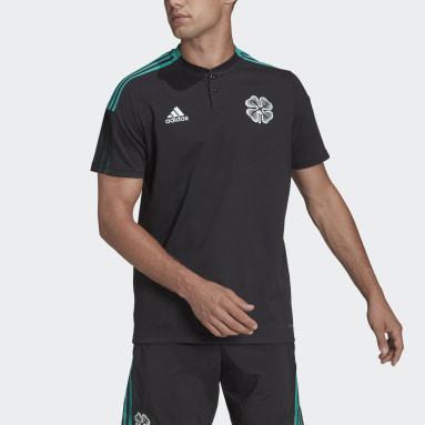 Men Football Black Celtic FC Tiro Polo Shirt