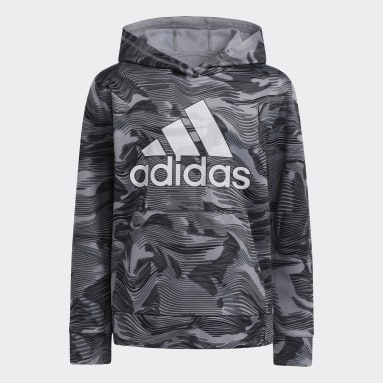 Youth Training Black Camo Allover Print Hoodie