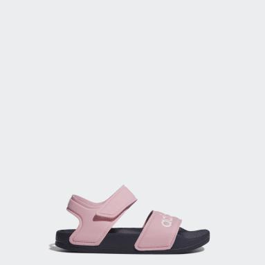 Kids Swimming Pink Adilette Sandals