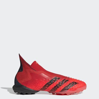 Chimpunes Predator Freak+ Pasto Sintético Rojo Hombre Fútbol