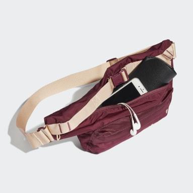 Women Gym & Training Burgundy Sport Casual Bum Bag