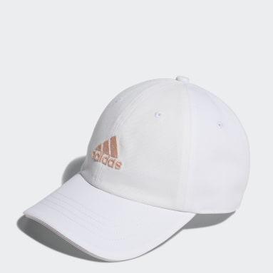 ผู้หญิง กอล์ฟ สีขาว หมวกแก๊ปผ้าทวิล Badge of Sport