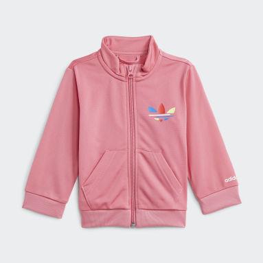 Kids Originals Pink Adicolor Tracksuit