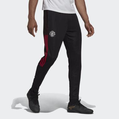 Men Football Black Manchester United Tiro Training Tracksuit Bottoms