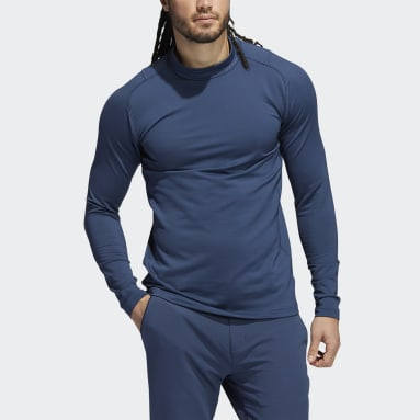 Heren Golf Blauw Sport Performance Recycled Content COLD.RDY Longsleeve