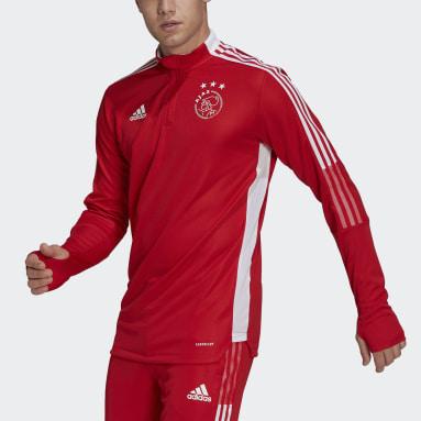 Sudadera entrenamiento Ajax Tiro Rojo Hombre Fútbol
