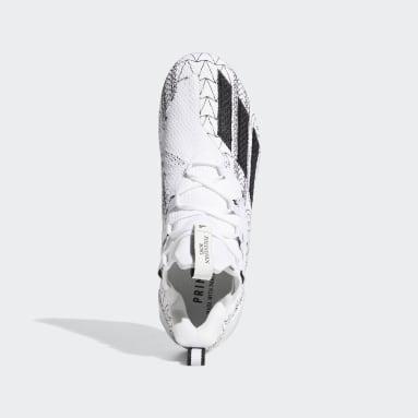 Men's Football White Adizero 11.0 Speed Island Football Cleats