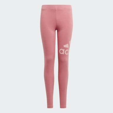 Youth 8-16 Years Sportswear Pink adidas Essentials Leggings