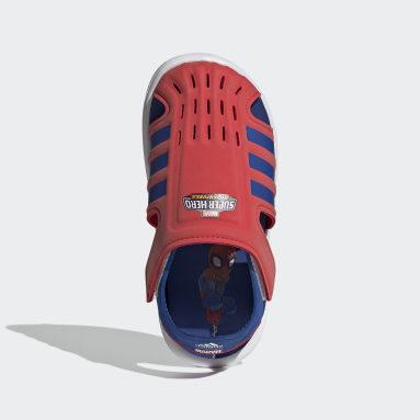 Sandali Water Rosso Bambini Nuoto