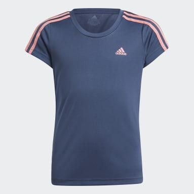 Camiseta Designed 2 Move 3-Stripes Azul Meninas Training