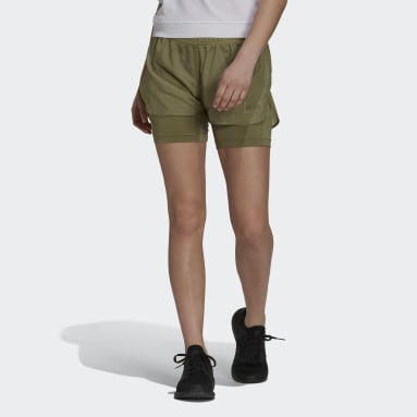 Women Sportswear Green Parley Mission Kit Run for the Oceans Shorts