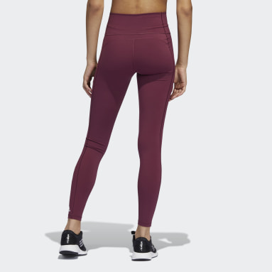 Women's Yoga Burgundy Believe This 2.0 Long Tights