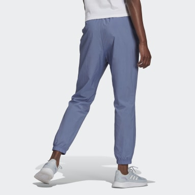 Calça Brand Love Repeat Logo High-Waist Woven Roxo Mulher essentials