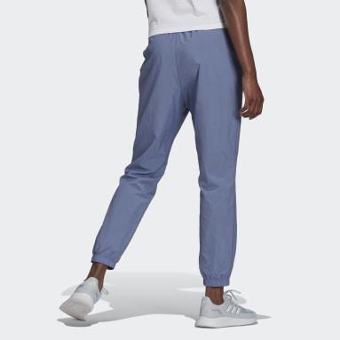 Pants Brand Love Repeat Logo Tejidos Corte Alto Violeta Mujer Diseño Deportivo