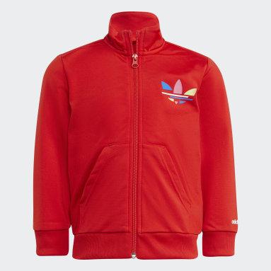 Conjunto de chaqueta y pantalón Adicolor Rojo Niño Originals