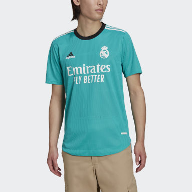 Men's Soccer Turquoise Real Madrid 21/22 Third Authentic Jersey